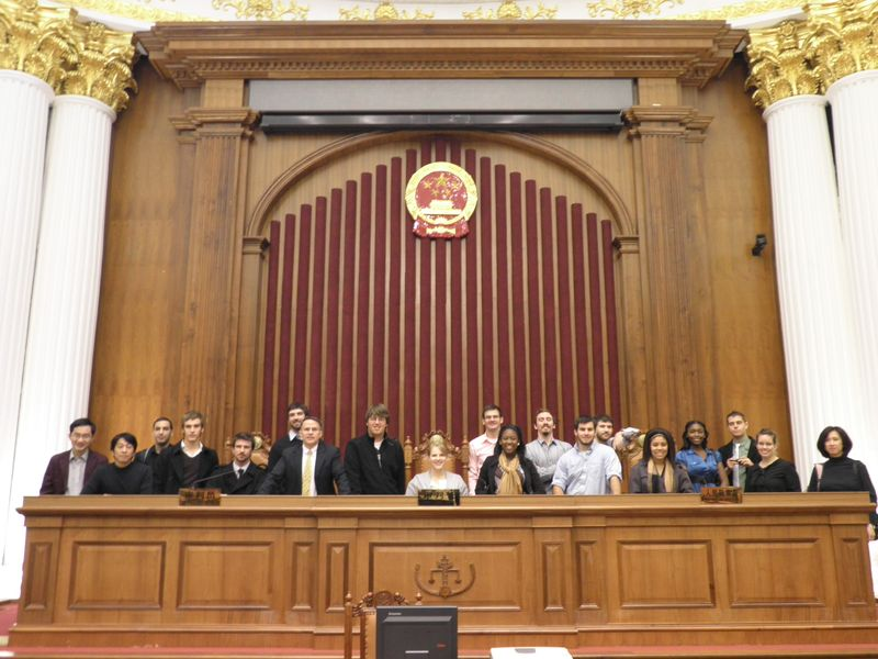 CIEE Jiaotong in Minhang Courthouse - 10Dec3