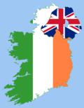 Irish flag map