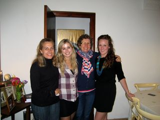 Two students with their Spanish homestays