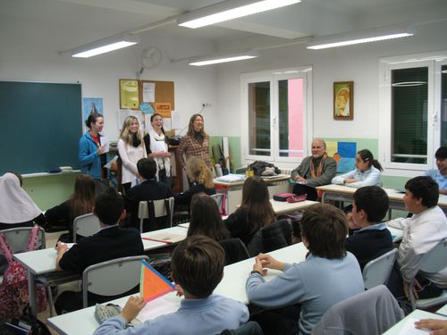 Activity in a school in palma