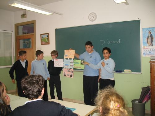 Students showing local culture