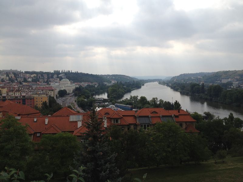 View from top of Vysehrad