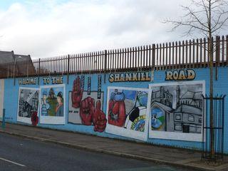 Red hand murals