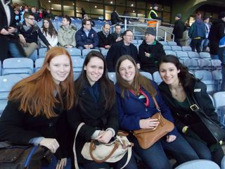 Students at the match