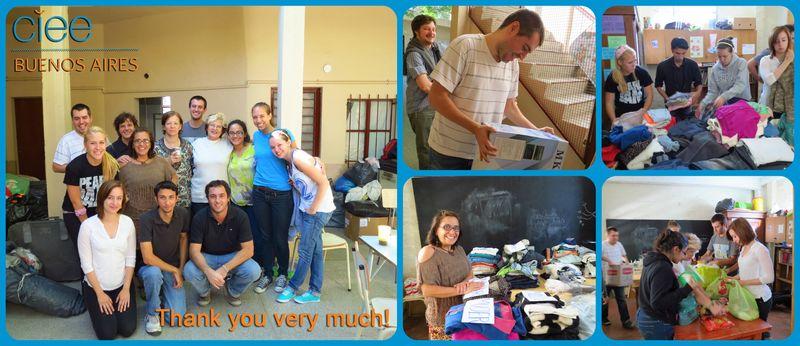 Donaciones en inglés