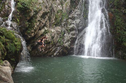 Yasmine and Douglas jump Aguas Blancas