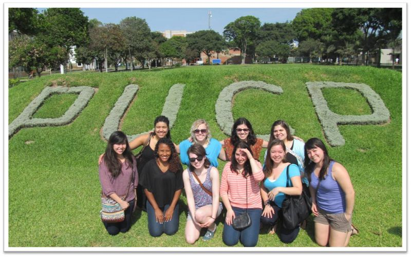 CIEE Lima Students on Campus