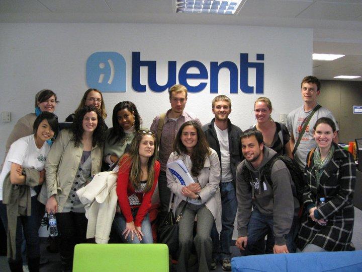 Visita estudiantes a Tuenti