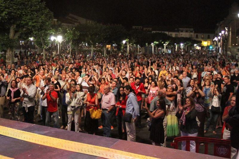 La noche en Blanco concert crowd
