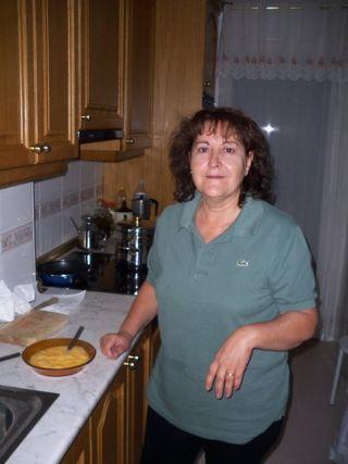 María Montero en la cocina