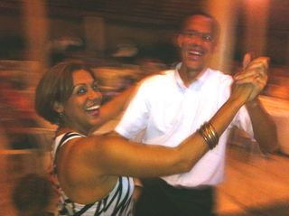 CIEE's Melba and David showing off their merengue skills