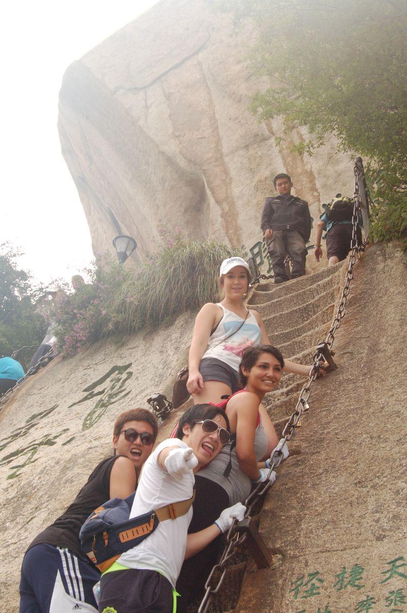 climbing Mount Hua