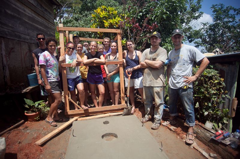 One of three latrines built over the weekend