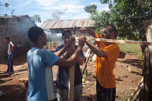 Building latrines in Dajao, Dominican Republic