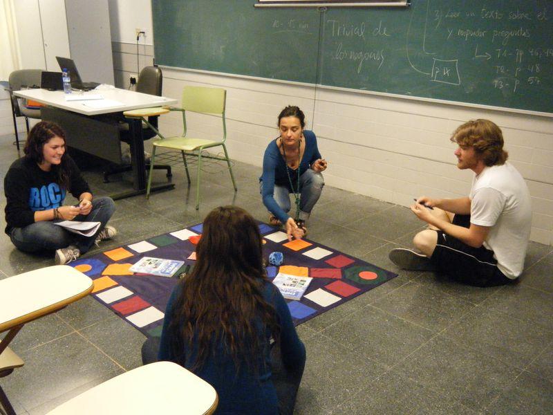 Trivial Spanish language game