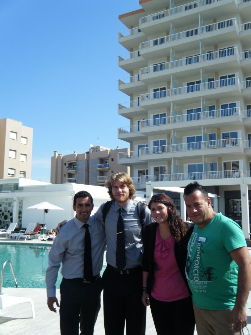 Purdue students at hotel caballero
