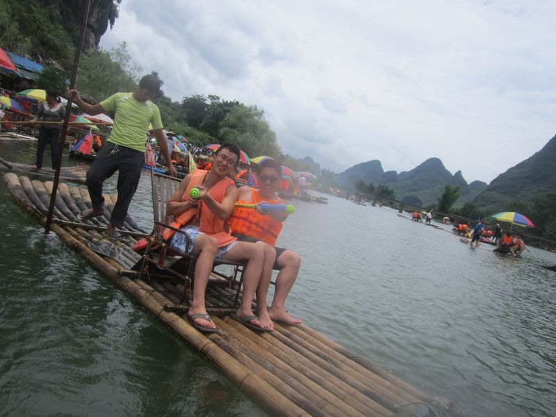 water fight on the Li River, Guilin