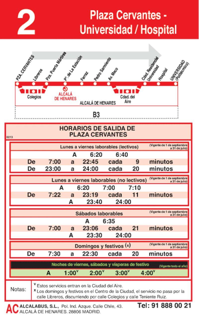 Horario-ida-l-2-alcala-de-henares-autobuses-urbanos