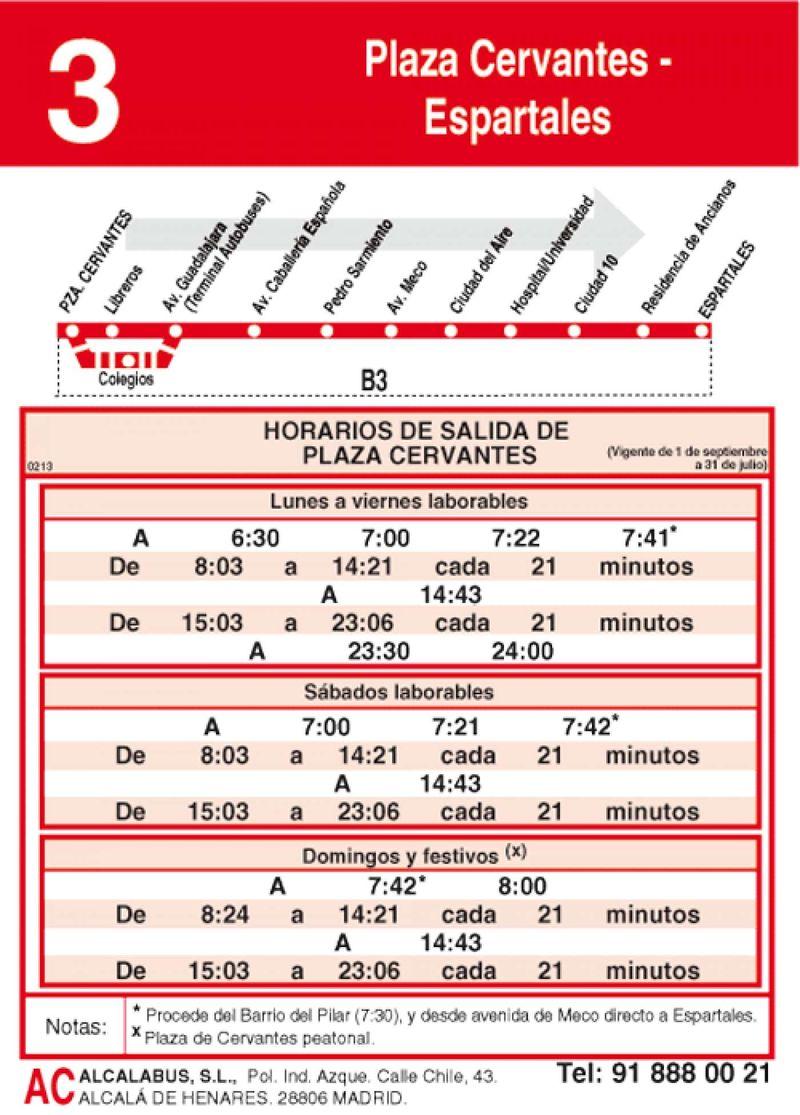 Horario-ida-l-3-alcala-de-henares-autobuses-urbanos