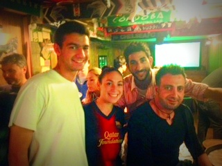 Watching Barça at a bar with Spaniards