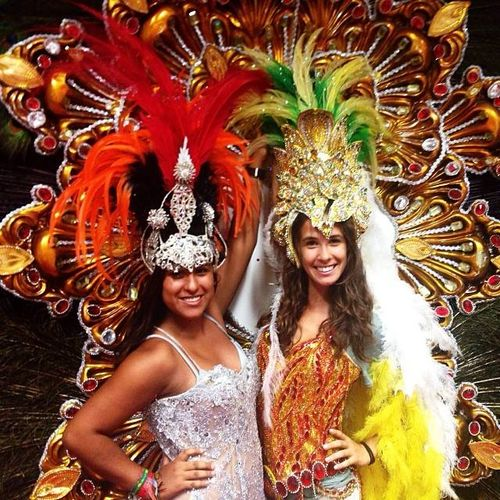 Ivana and Maria at Grande Rio Samba School