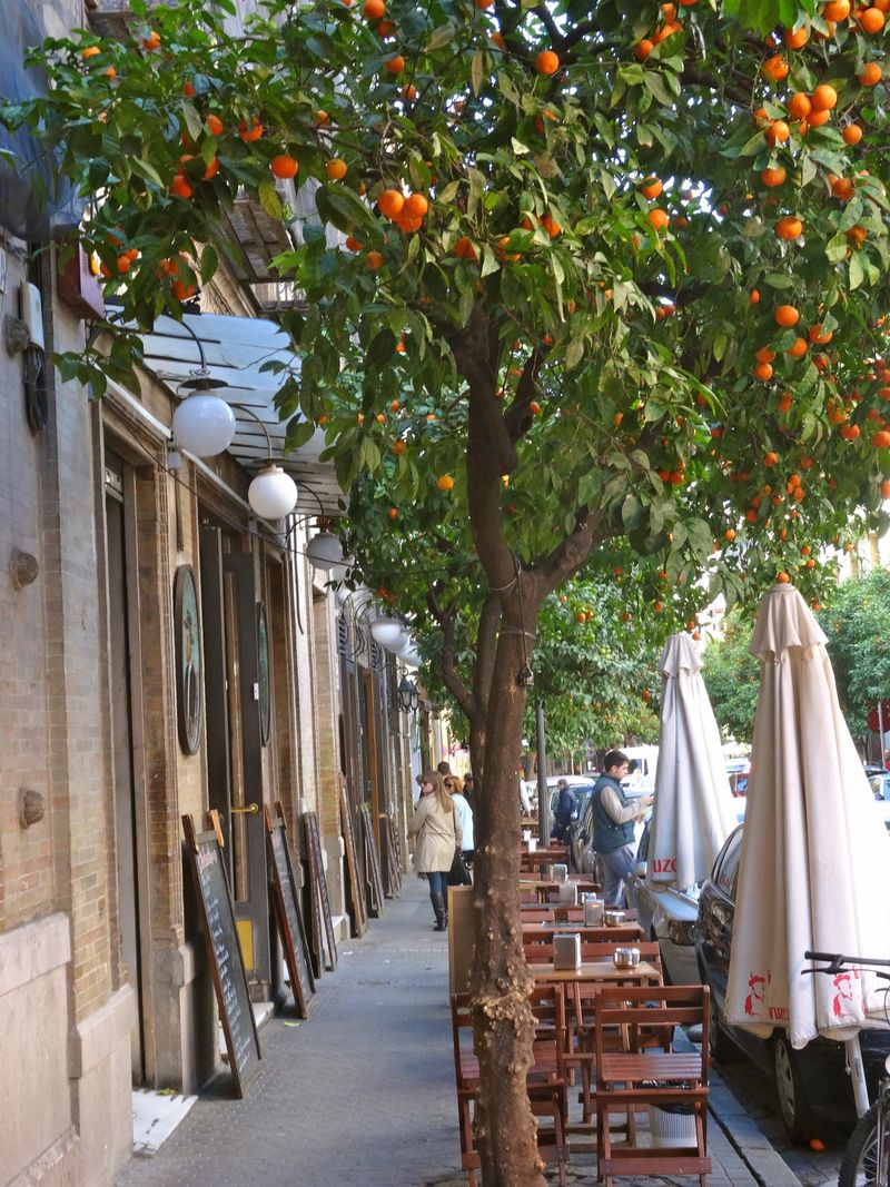 Sevilla sidewalk
