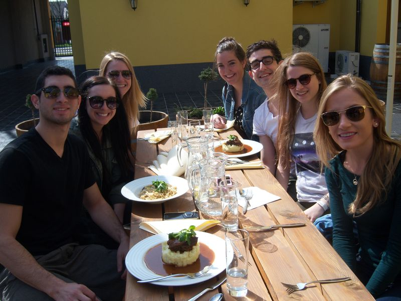 Lunch before wine tasting