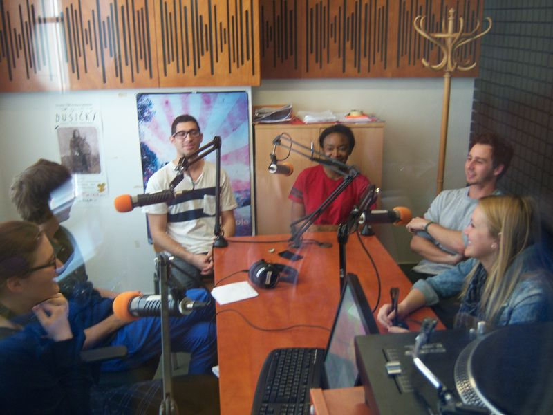 Radio R students on air