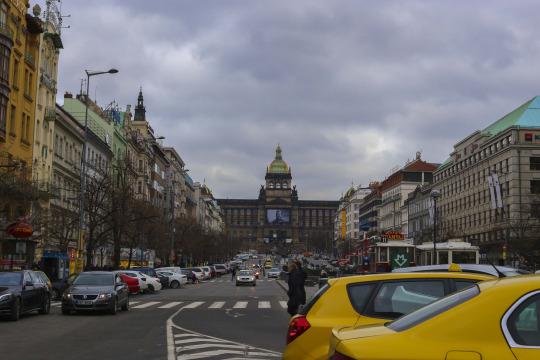 Wenceslas Square or Vaclavske Namesti