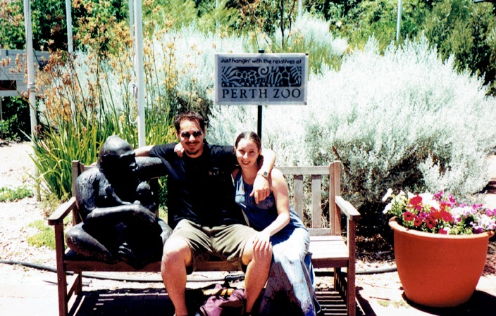William Stone with wife, Tammy_Perth Zoo, Western Australia
