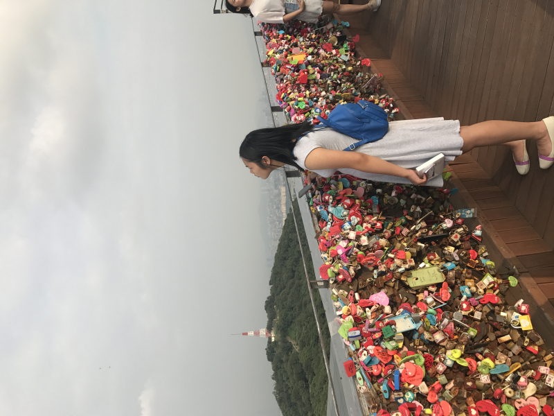 Emilie at N.Seoul Tower