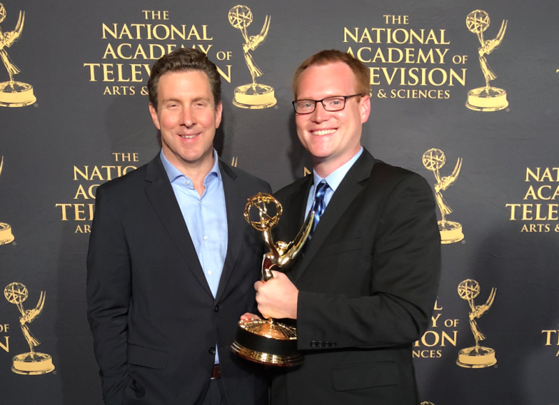 William Brangham (L) and Jason Kane (R) at Emmys