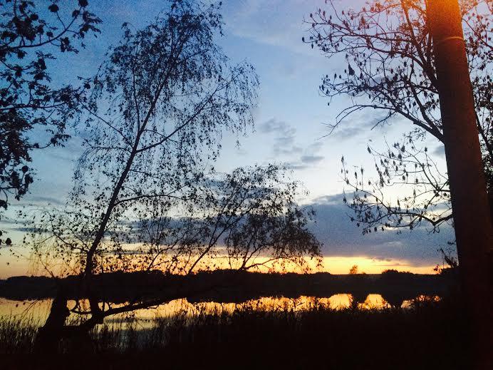 Trebon sunset