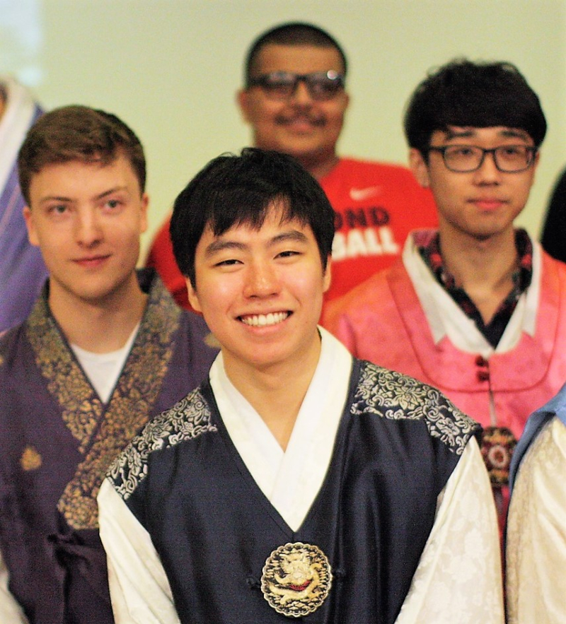 Males in hanbok