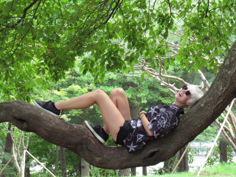Taylor at Nami Island