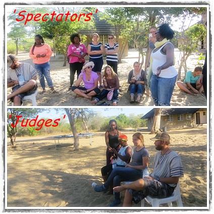 Spectators and judges