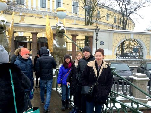 2. Griffins on Bank Bridge over the Griboedov Canal