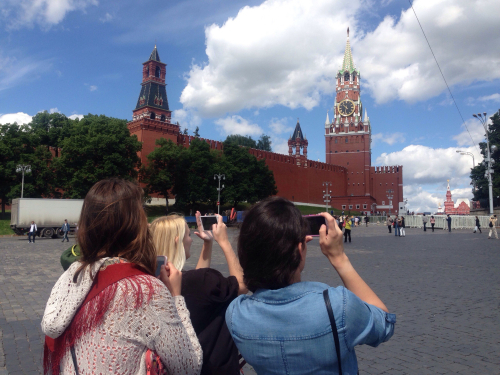 Admiring (aka snapchating) the Red Square!