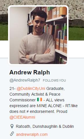 Andrew twitter profile 2