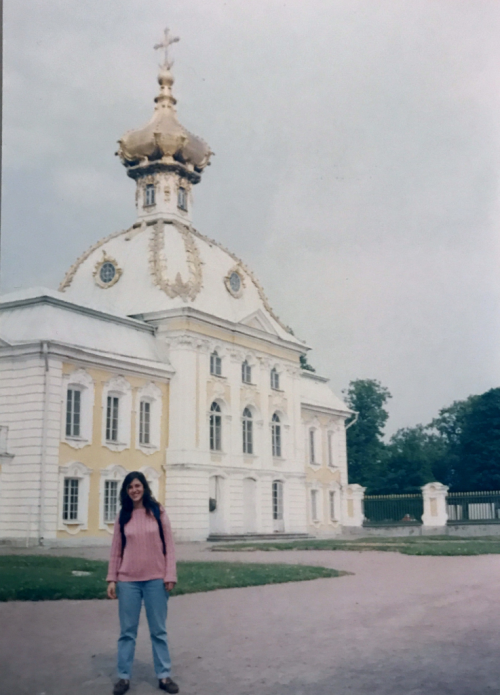 Vivian at Peterhof