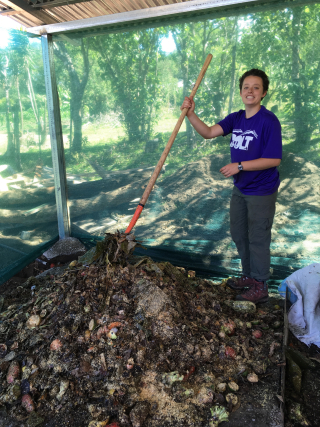 Ella mixes compost1